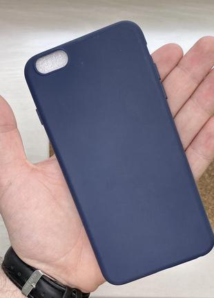 Чехол синий чохол на для айфон iphone 6 + s plus плюс силиконовый