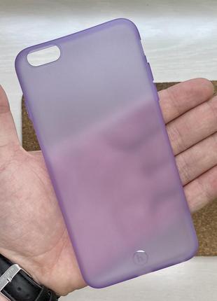 Чехол сиреневый чохол на для айфон iphone 6 + s plus плюс сили...