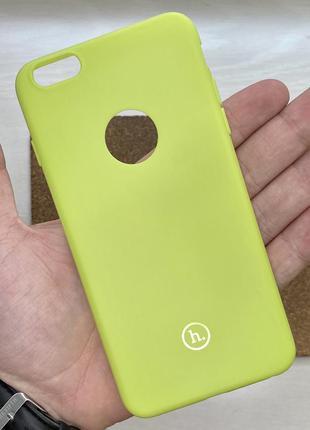Чехол салатовый чохол на для айфон iphone 6 + s plus плюс сили...