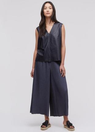 Стильные юбка-брюки плиссе широкие