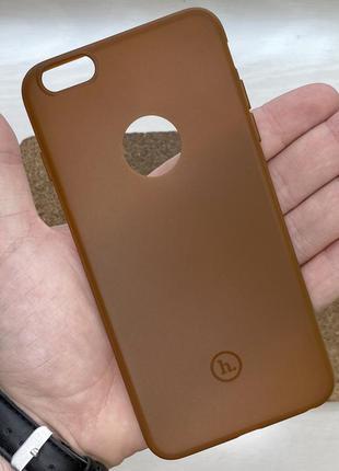 Чехол коричневый чохол на для айфон iphone 6 + s plus плюс сил...