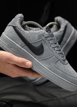 🔷зимние🔷 мужские кроссовки найк nike air force winter grey серые