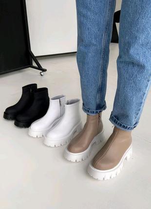 Женские ботинки берцы мартинсы челси хайтопы 36-41р натур кожа