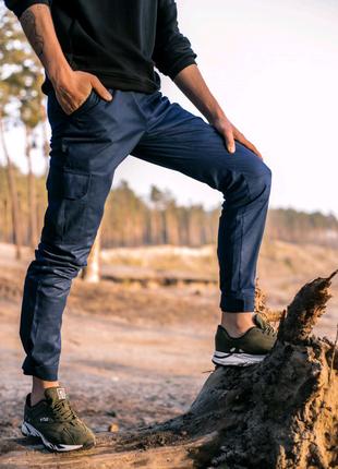 """Котоновые штаны """"Baza"""" Intruder синие"""