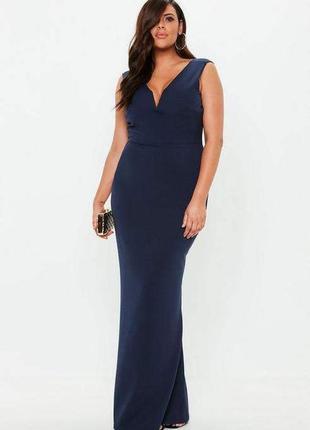 Ликвидация товара 🔥   красивое вечернее темно синее платье с в...