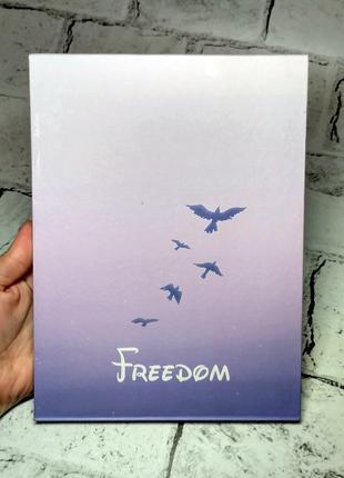 Зеркало настольное, дорожное раскладное, Freedom, фиолетовое