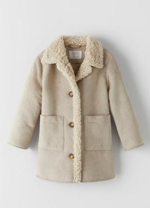 Дубленка, плащ, пальто, куртка, для девочки, 164 см, zara
