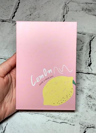 Зеркало настольное, дорожное раскладное, Лимон, розовое