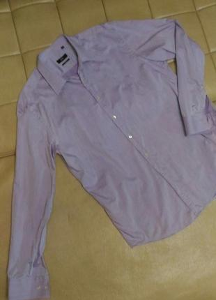 Рубашка hugo boss лилового цвета, р.50-52