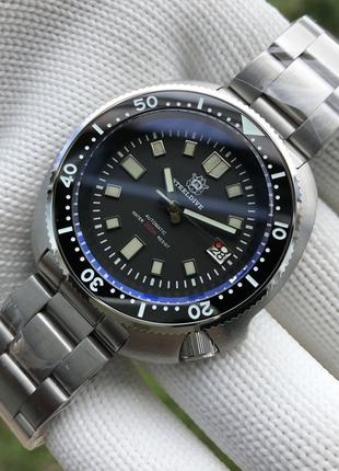 Часы дайверы STEELDIVE 1970 черепача/ хомаж Seiko 6105 NH35A