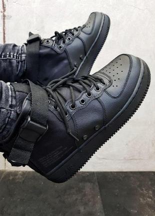 🍁nike air force high total black🍁мужские стильные хайтопы найк...