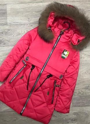 Зимняя тёплая удлиненная куртка