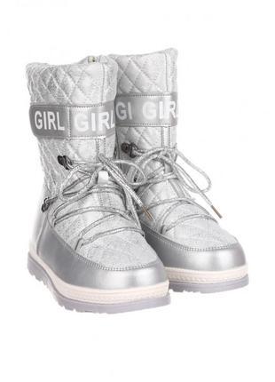 Сноубутсы для девочки, зимние