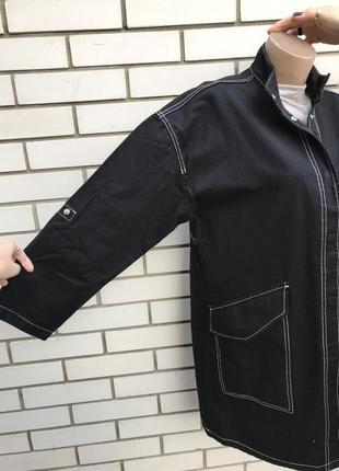Новая,чёрная парка с белой строчкой,куртка,жакет zara