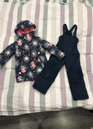 Зимняя куртка + полукомбинезон для девочки outventure рост 110