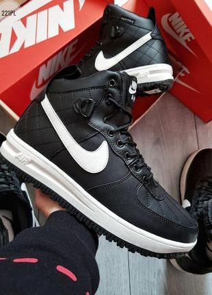 ❄️nike air force lunar black/white❄️зимние мужские кроссовки с...