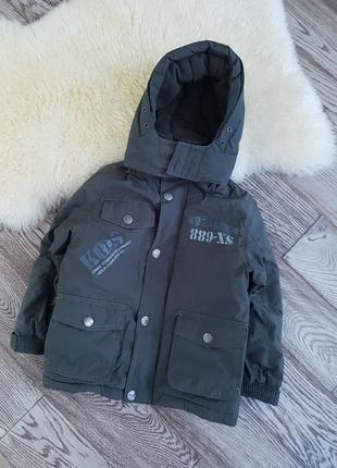 Теплая детская куртка для мальчика