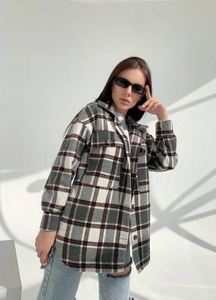 Кашемировое пальто - рубашка с асимметричным низом🔥h