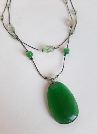 Кулон с натурального камня подвеска ожерелье