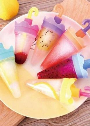 Формочки для мороженого (набор из 4 форм) кухонные принадлежно...