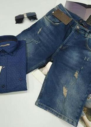 Мужские джинсовые шорты.