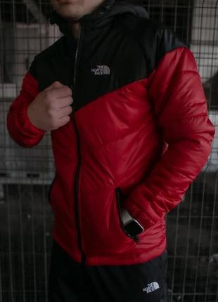 Куртка tnf черно- красная