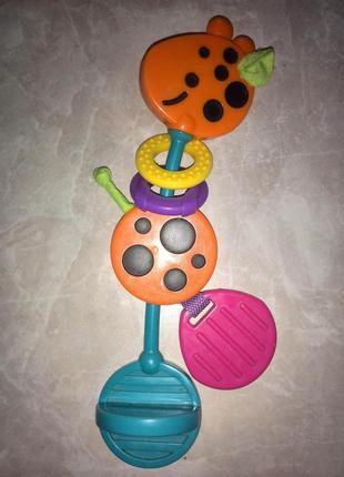 Playgro Прорезыватель для зубов и игрушка развивающая Жираф