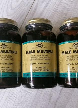 Уценка! Solgar Male Multiple 120 таблеток комплекс для мужчин