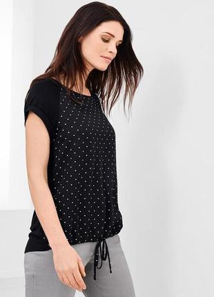 Стильная футболка, блуза в горох s 36-38 tchibo, германия