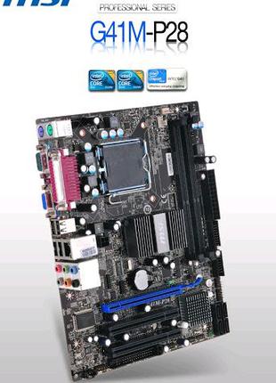 Материнская плата MSI G41M-P28, Socket 775, 2 x DDR3