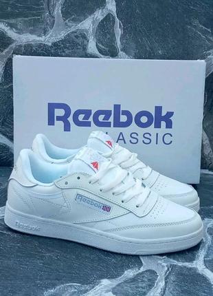 Мужские кроссовки Reebok Classic 2021 New кожаные, весенние