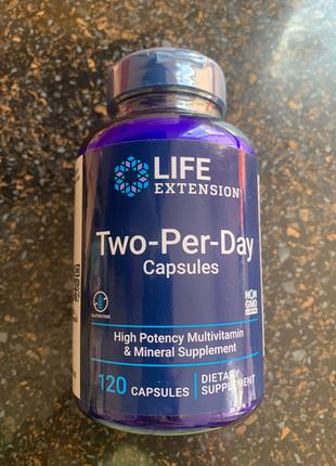Капсулы дважды в день от Life exstension 120 кап.