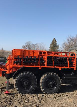 Буровая установка БГМ 1 на базе Зила 131 дизель