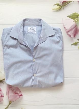 Голубая рубашка, легкая рубашка, летняя рубашка
