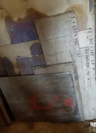 Листы ВТ1-0 титановые карточки 5 мм