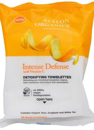 Очищающие салфетки для лица детокс с антиоксидантами avalon or...