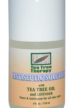 Антисептический раствор с маслами чайного дерева и лаванды tea...