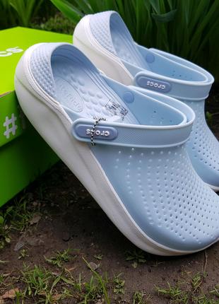 Crocs literide neo mint w8 кроксы лайтрайд