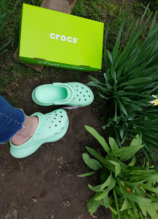 Crocs classic bae platform кроксы на платформе