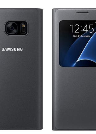 Оригинальный Чехол samsung S View Cover для Galaxy S7 edge