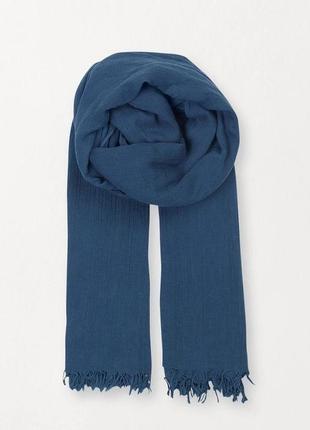 Синий хлопковый палантин becksondergaard