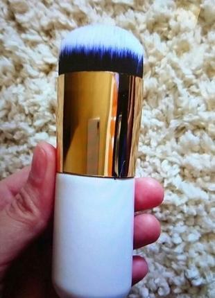 Кисть для макияжа кабуки широкая с коротким ворсом