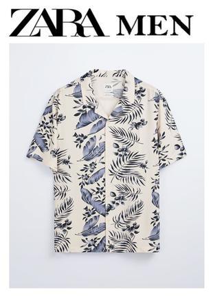 Рубашка ZARA MAN с коротким рукавом – Цвета розового мела