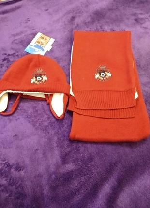 Набор шапка и шарф disney mickey mouse