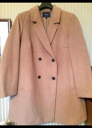 Пальто шерсть ламы kiabi 58