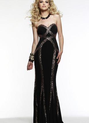 Распродажа черное брендовое платье faviana