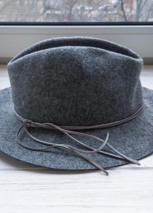 Фетровая шляпа zaful серого цвета