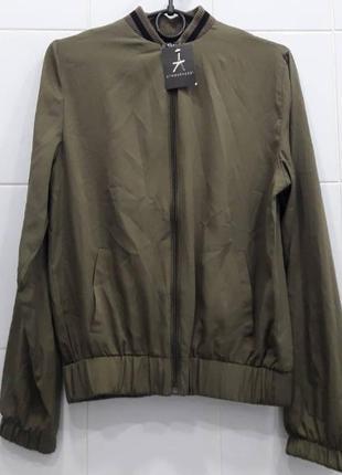Стильная куртка бомбер ветровка на манжетах