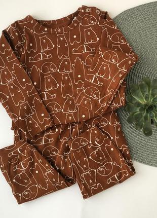 Піжама хлопок дитяча коричнева