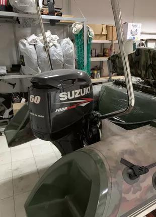 Лодка Kolibri RIB-450 Люкс+мотор Suzuki DF 60 ATL+Лафет